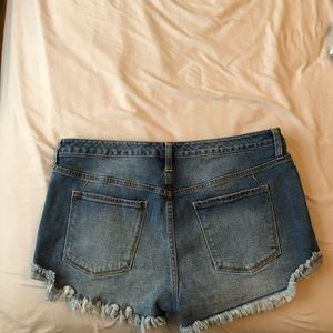Mossimo Supply Co. Shorts - Mossimo Women's high rise destructed Jean shorts